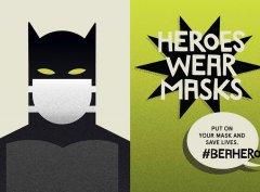 拯救生命,即使是超级英雄,也必须戴口